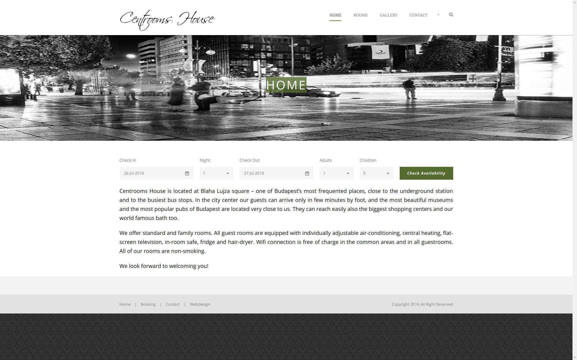 «Munkáinkból: Centrooms House » WordPress | Weboldal készítés | Webshop készítés | Optimalizálás > info@webrockets.hu