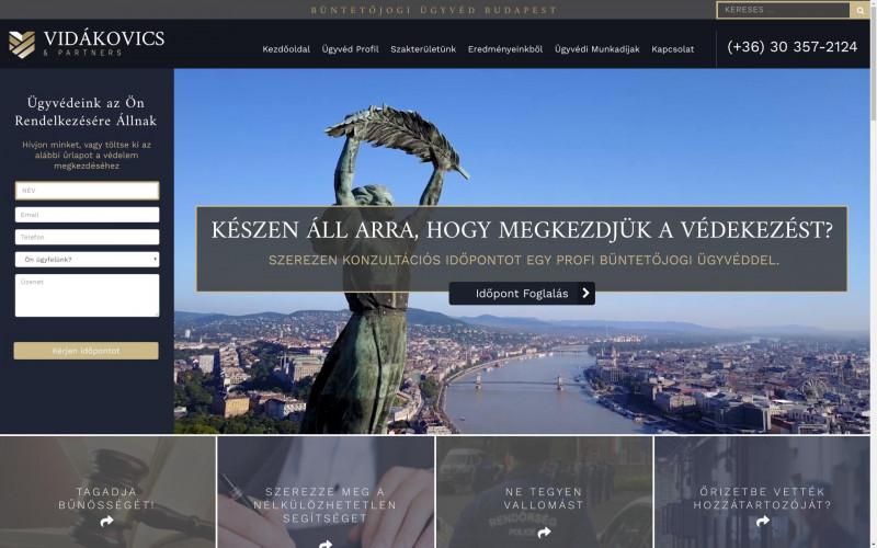 «Munkáinkból: Vidákovics Ügyvédi Iroda » Weboldal készítés | Webshop készítés | Technikai SEO > info@webrockets.hu