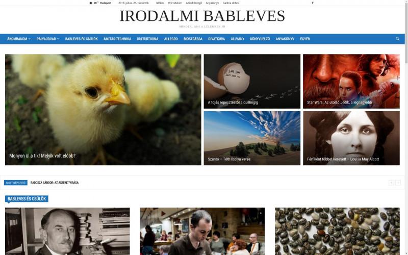 «Munkáinkból: Irodalmi Bableves » Weboldal készítés | Optimalizálás | Technikai SEO > info@webrockets.hu